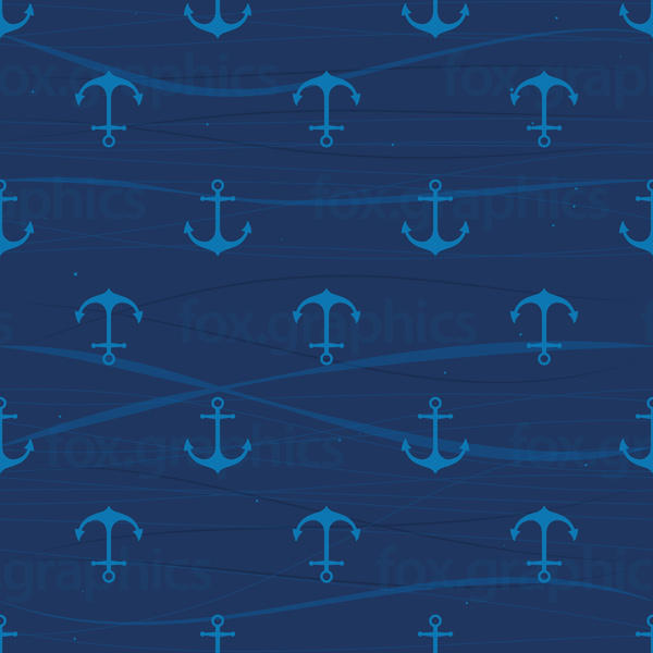 Anchors pattern, seamless vector