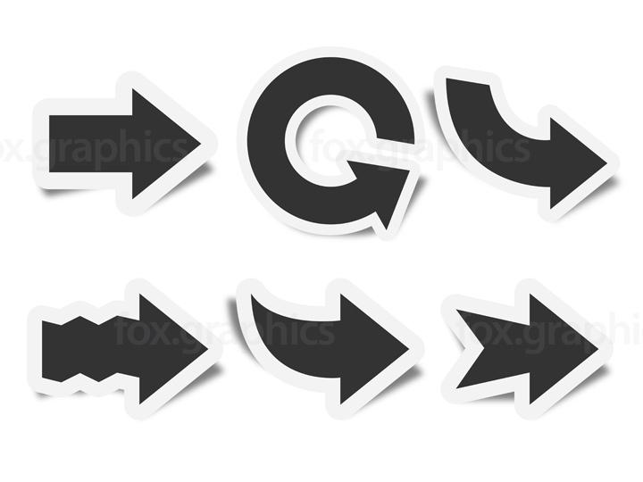 Vector arrows symbols