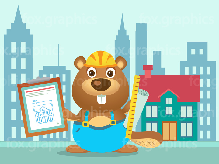 Beaver constructor illustration