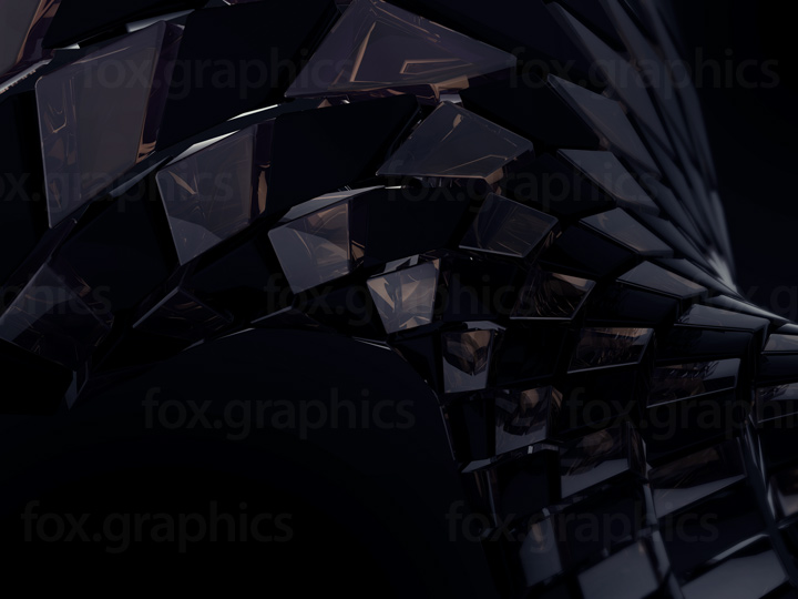 Abstract black glass