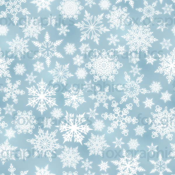 Light blue snowflakes pattern