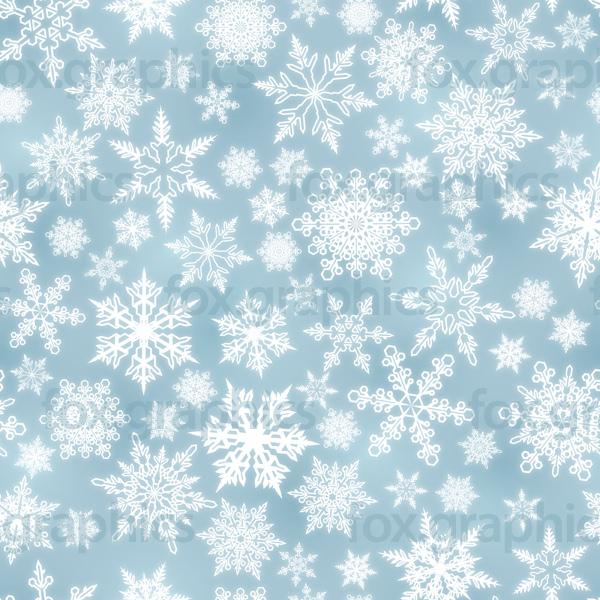 Bright snowflakes pattern