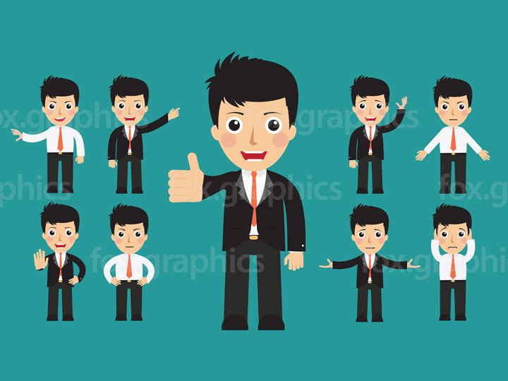 Vector businessman character