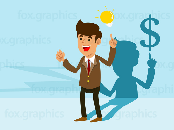 Businessman with an idea