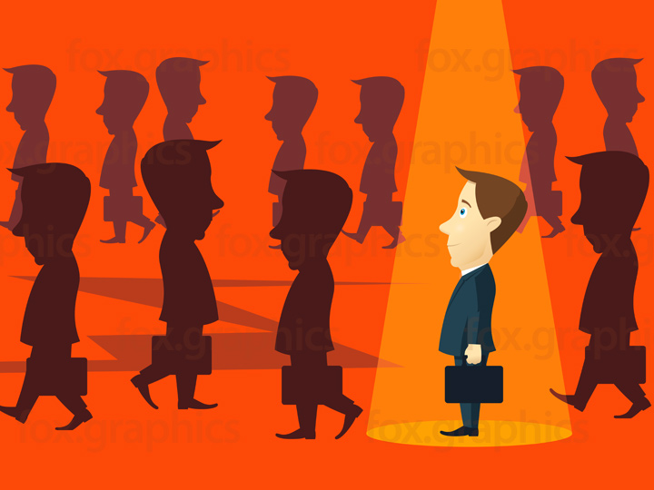 Businessman chosen by spotlight