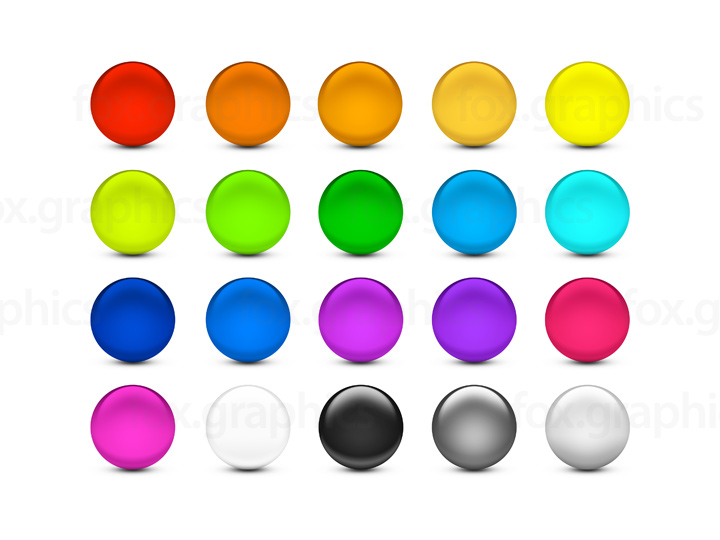 Round buttons PSD