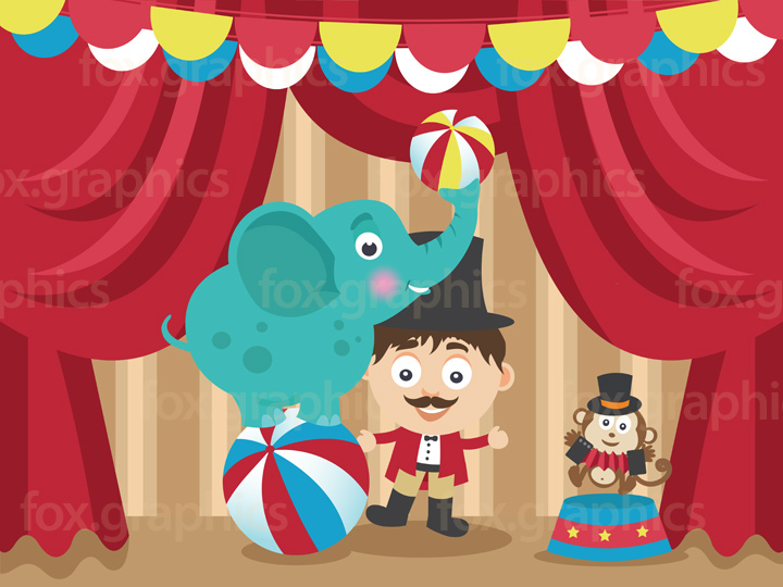 Cartoon circus illustration