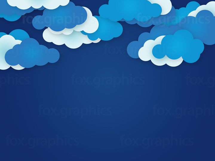 Cartoon clouds background