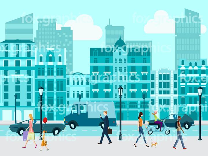 City life illustration