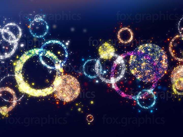 Colorful rings background
