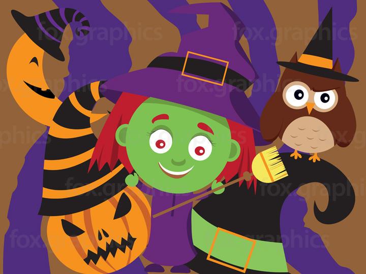 Creepy characters illustration