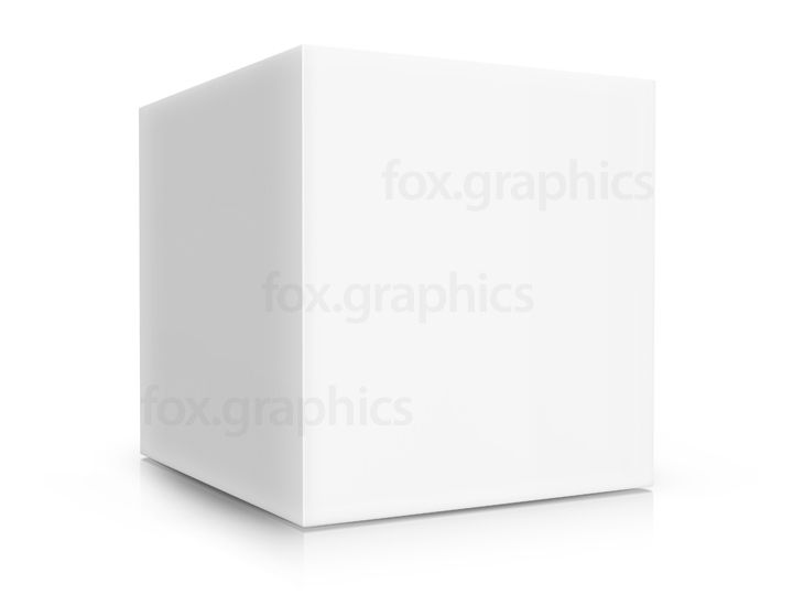 White cube box, PSD