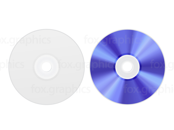 Blank DVD disc template, PSD