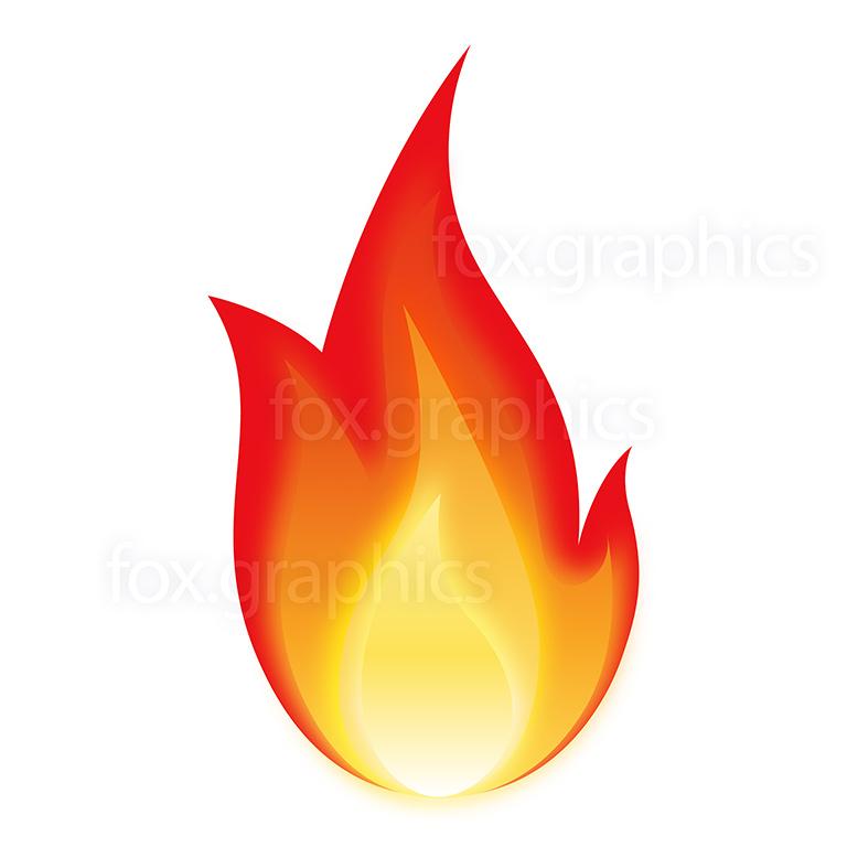 Flame icon, vector