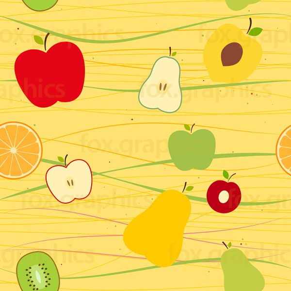 Fruit pattern, seamless vector