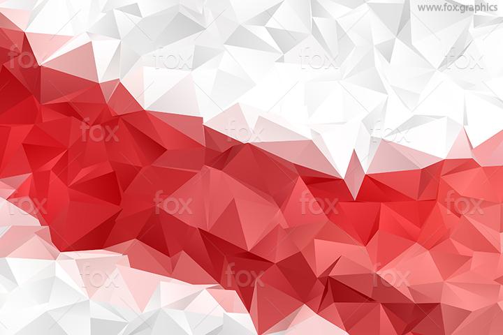 Futuristic polygonal pattern