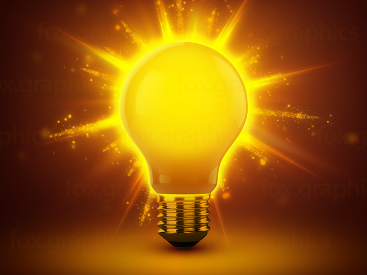 Glowing light bulb background