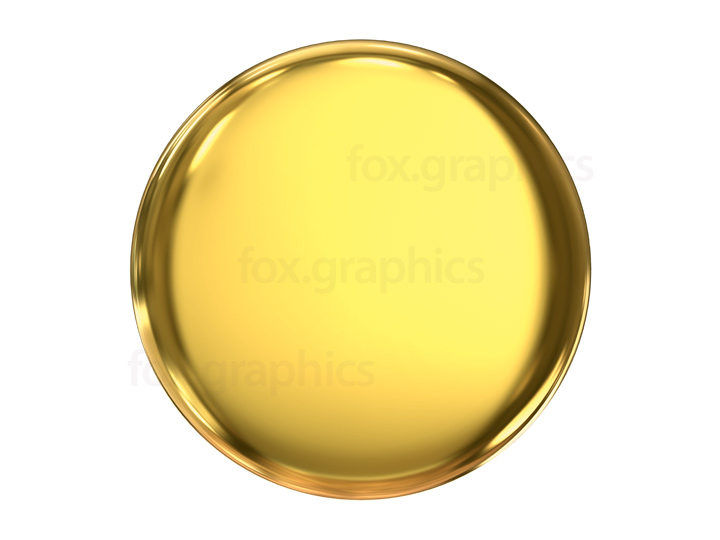 Gold button PNG