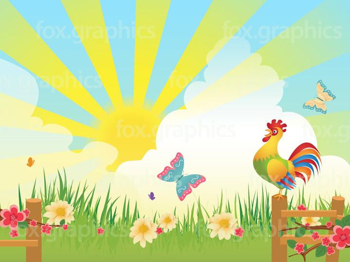 Good morning rooster illustration