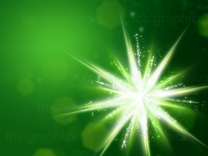 Green star background