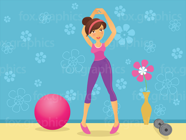 Gym girl illustration
