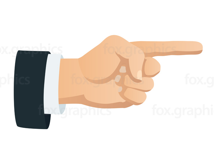 Hand pointing illustration