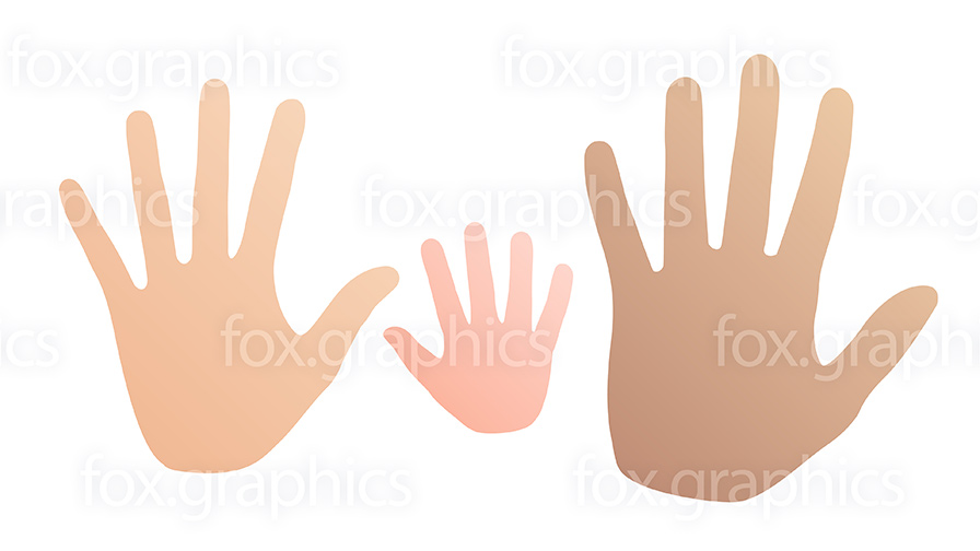 Hand silhouette, vector