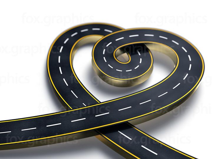 Heart shape road