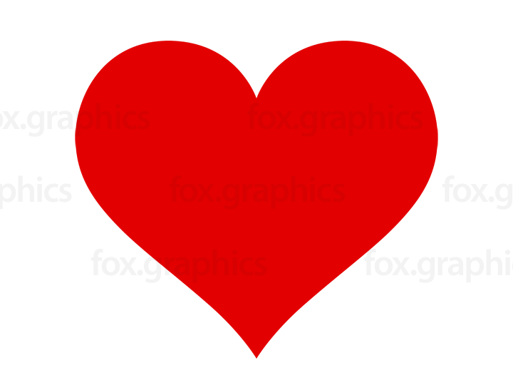 Red heart vector shape
