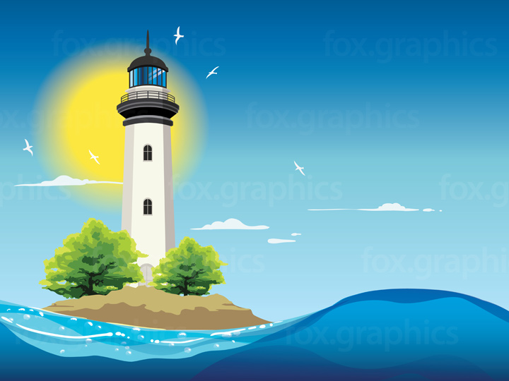 Lighthouse illustration background
