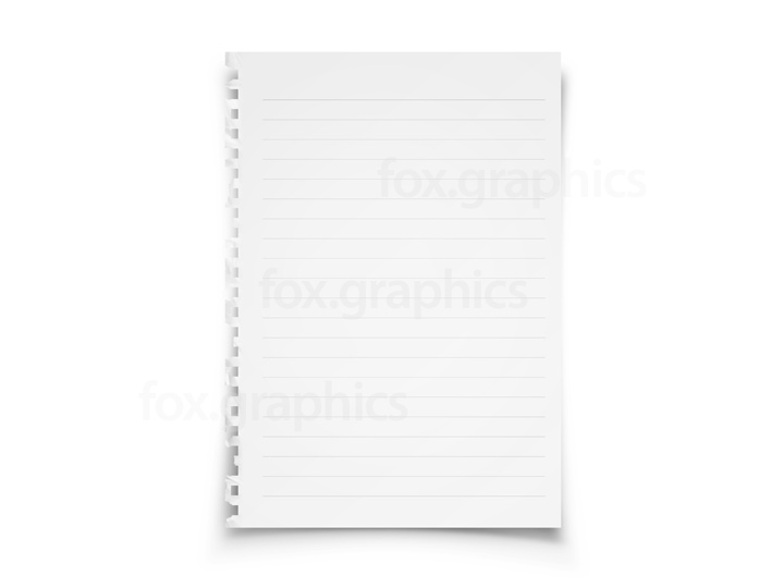 Lined paper PSD