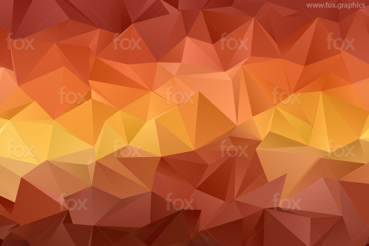 Abstract low poly sunset