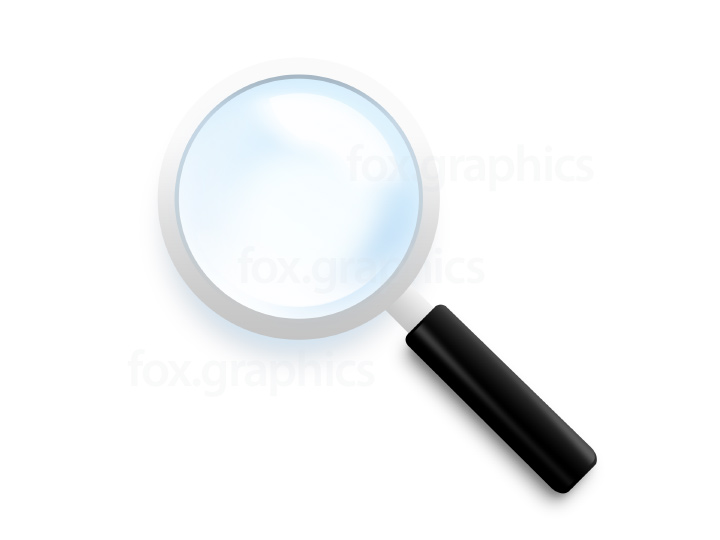 Magnifying glass icon (PSD)