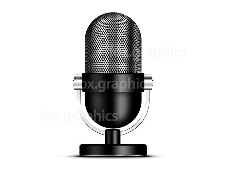 Retro microphone icon (PSD)