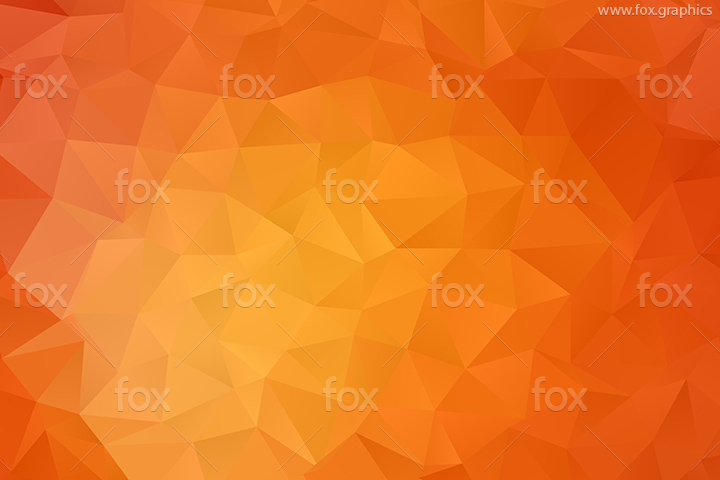 Orange triangles vector pattern