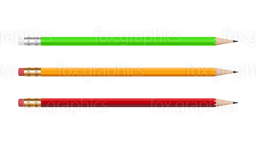 Pencils isolated, PNG