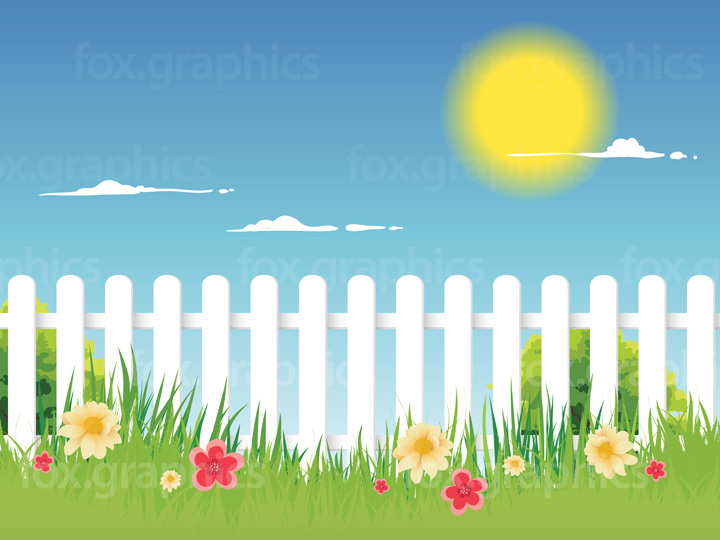 Vector picket fence background
