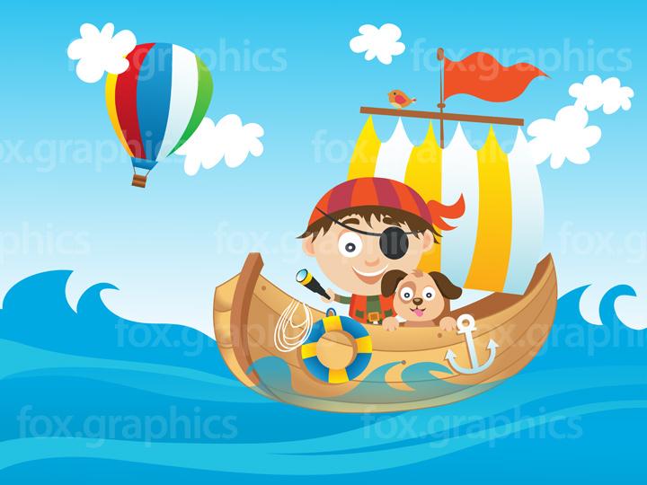 Pirate kid illustration