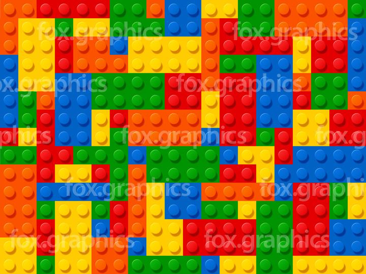 Plastic blocks pattern