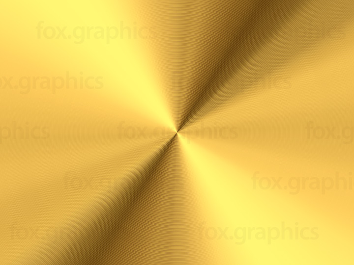 Radial gold metal background