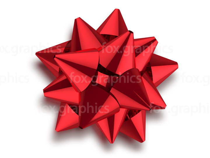 Red bow isolated (PNG)