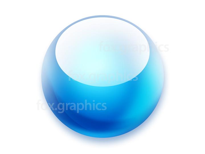 Round button PSD template