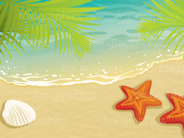 Sand beach vector illustration