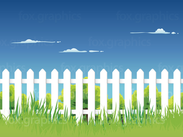 Seamless fence background