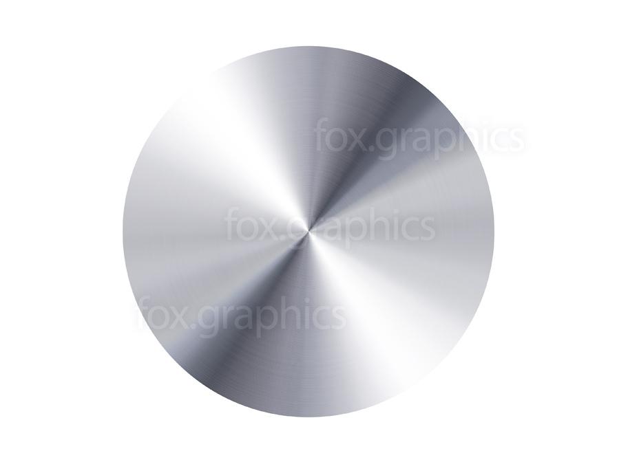 Silver metal disc