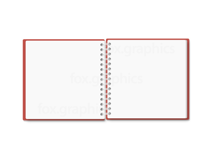 Small notebook PSD template