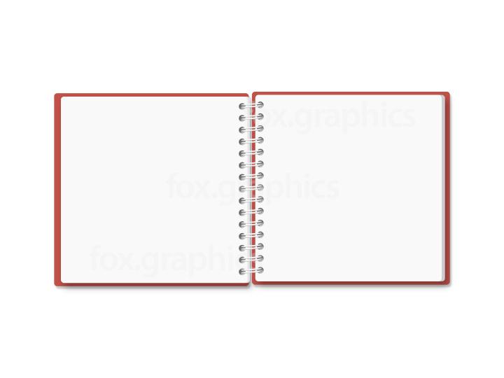 Small notebook PSD template