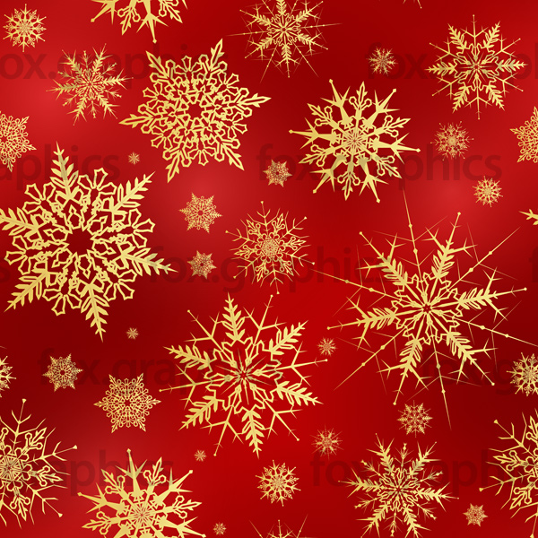 Red snowflakes pattern, seamless