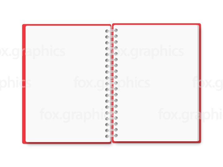 Open spiral notebook (PSD)