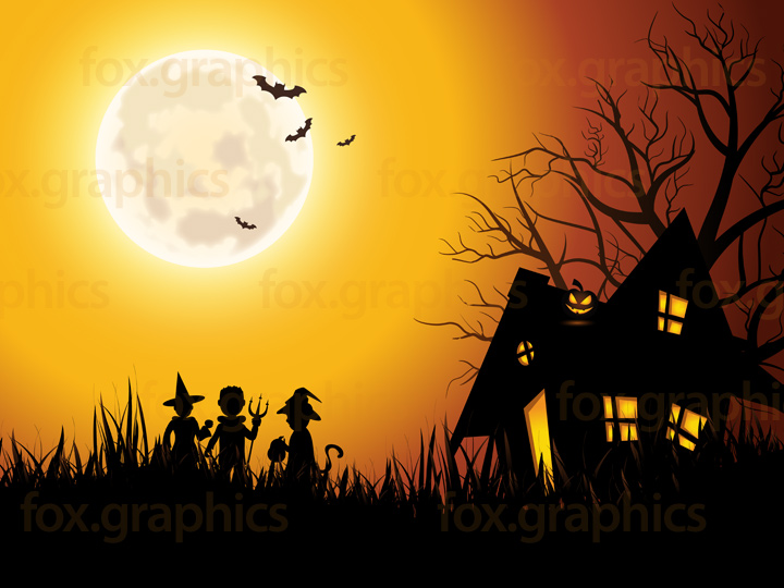 Spooky house background